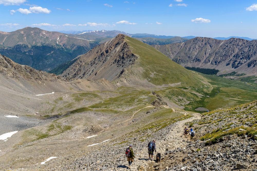 the view of greys peak summit in colorado