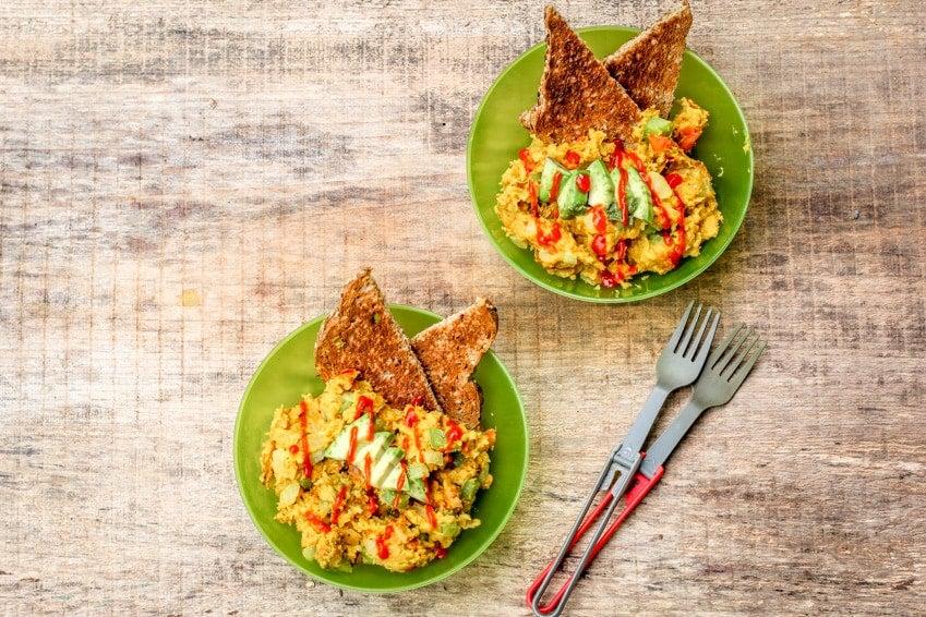 two bowls of vegetarian scramble