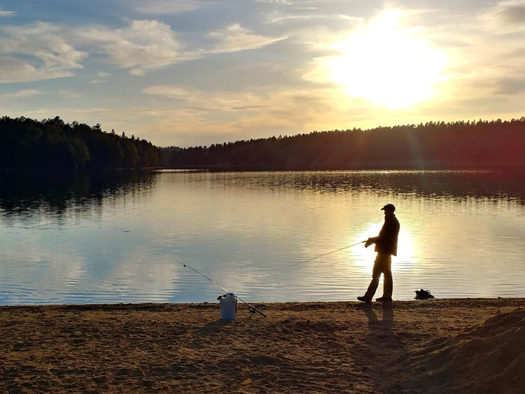 fishing at stockade lake custer state park south dakota