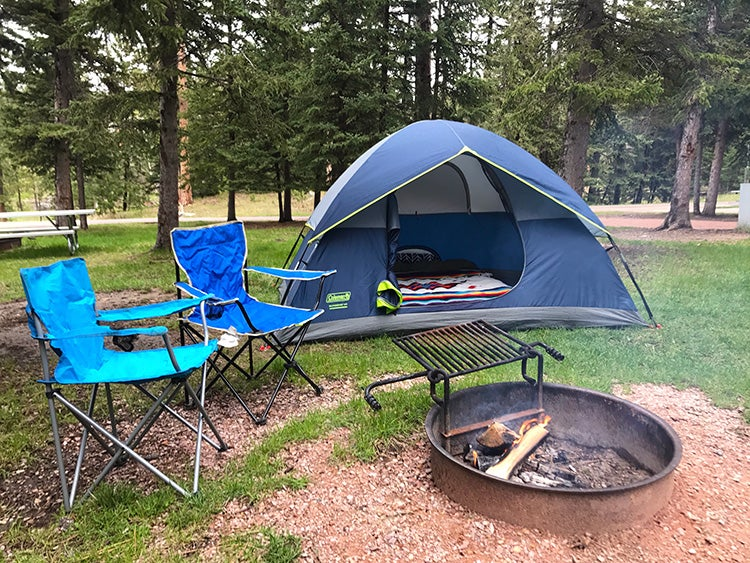 camping at sylvan lake custer state park south dakota