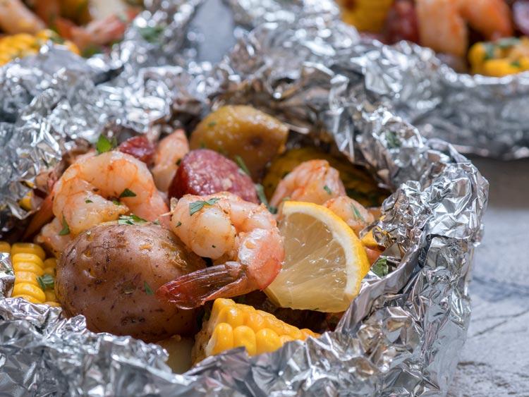 foil pack cajun shrimp