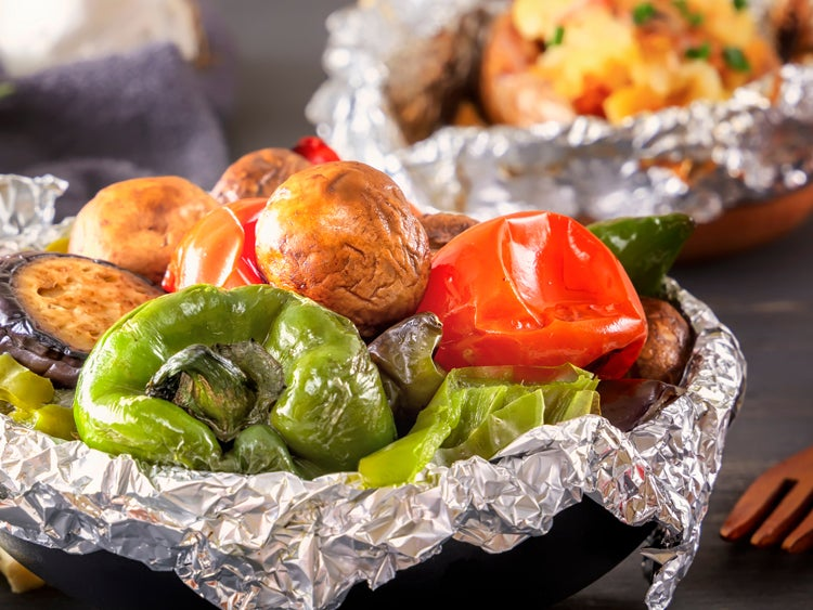 foil vegetable packet