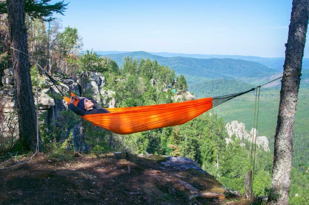 hammock camper with view