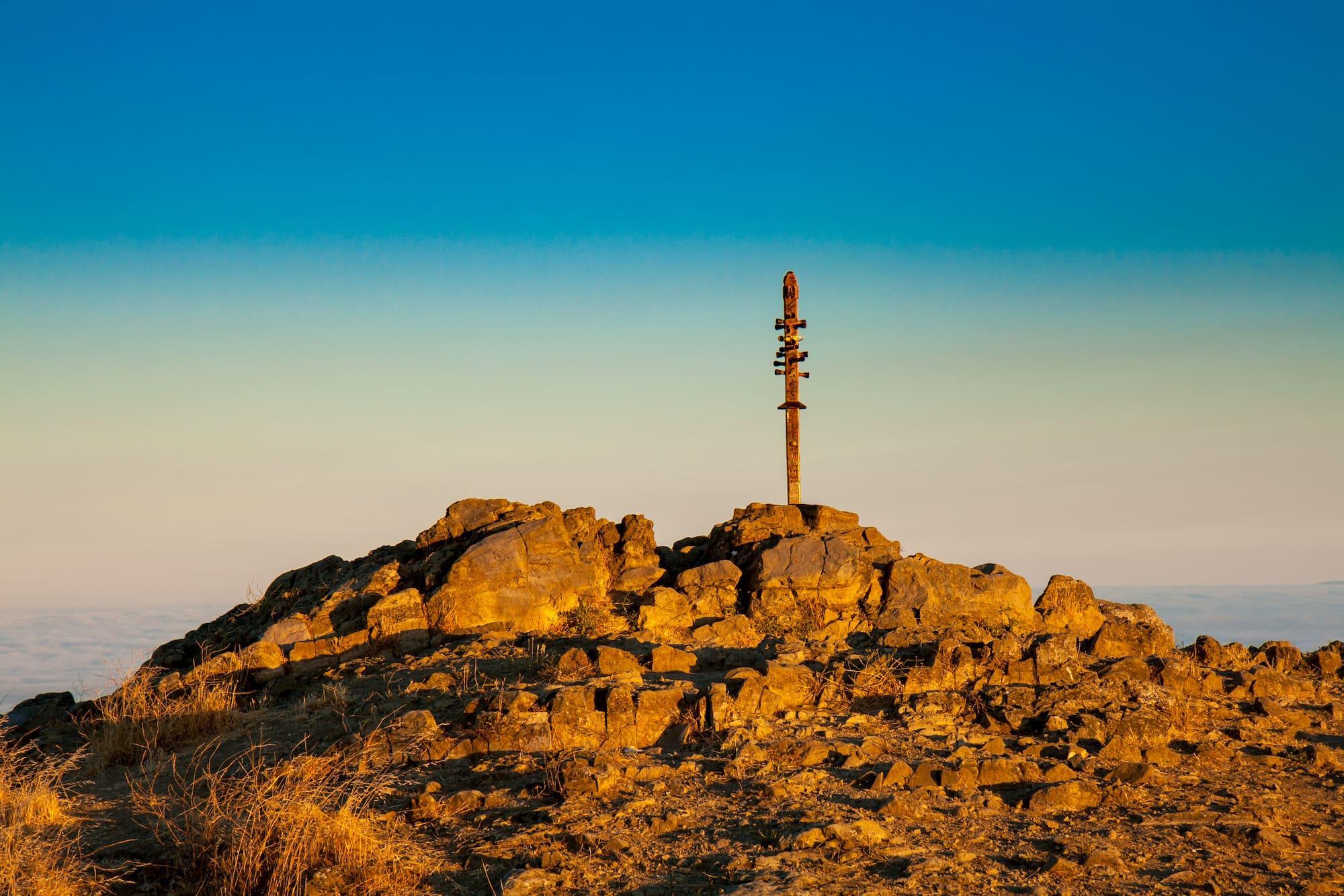 Mission peak during golden hour.