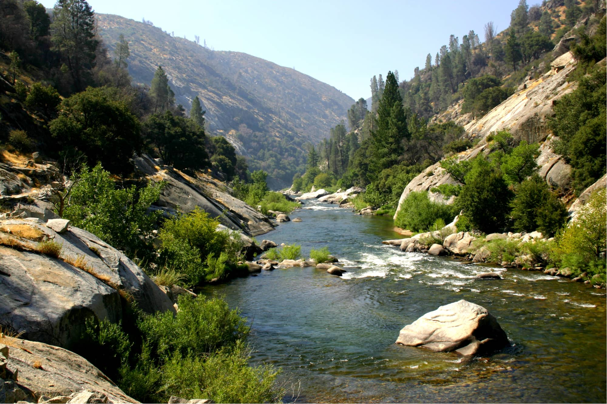 the wide kern river in sequoia national forest in california
