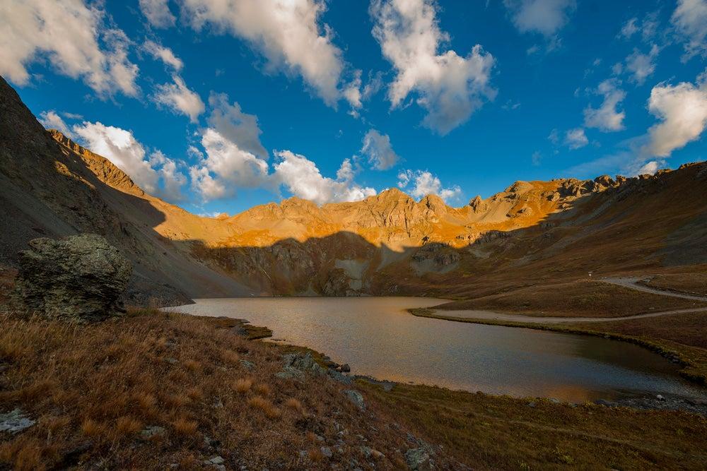 Clear lake in the San Juan Mountains.