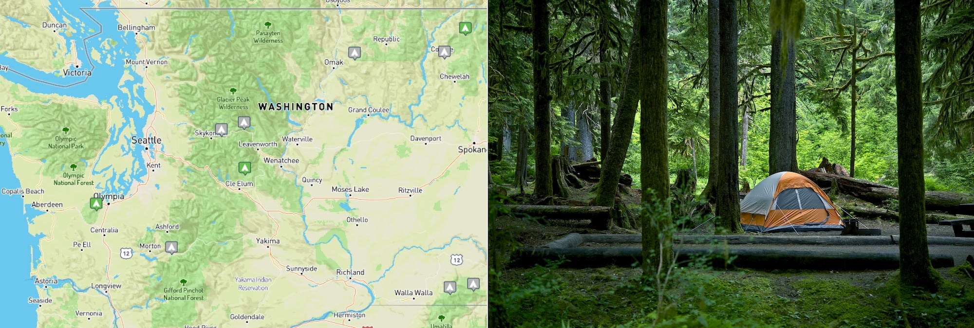 10 Free Washington Campgrounds, From the Mountains to the Coast