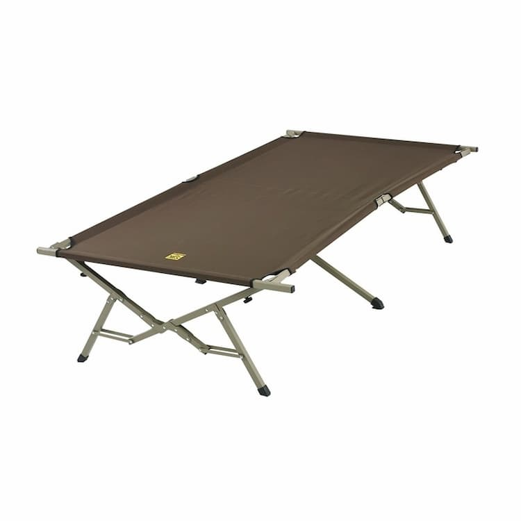 a foldable camping cot in extra large size