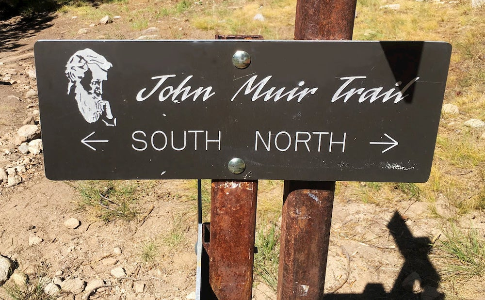 John Muir Trial sign showing north and south