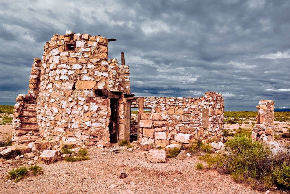 Abandoned stone building in Arizona