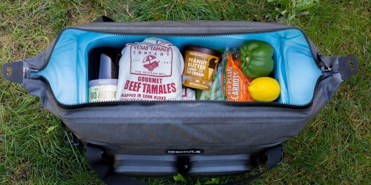 A fully packed Icemule cooler.