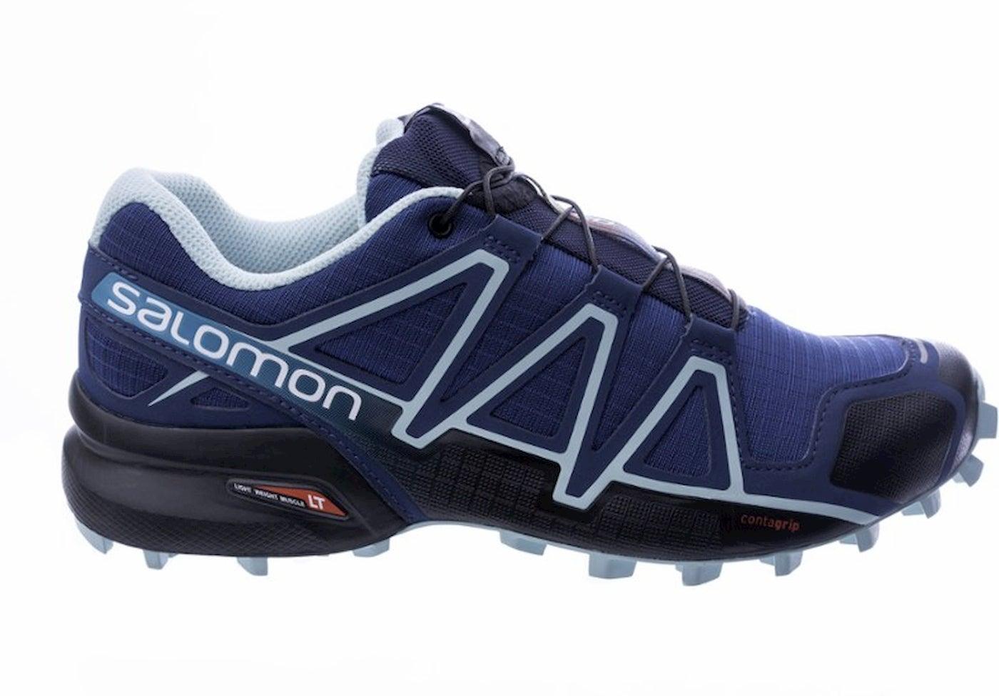 Salomon Speedcross 4 shoe in dark and light blue