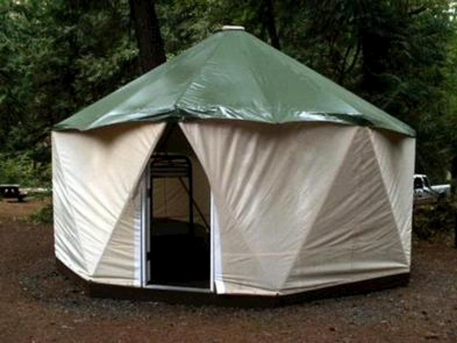 Yurt in the woods at Fish Creek.
