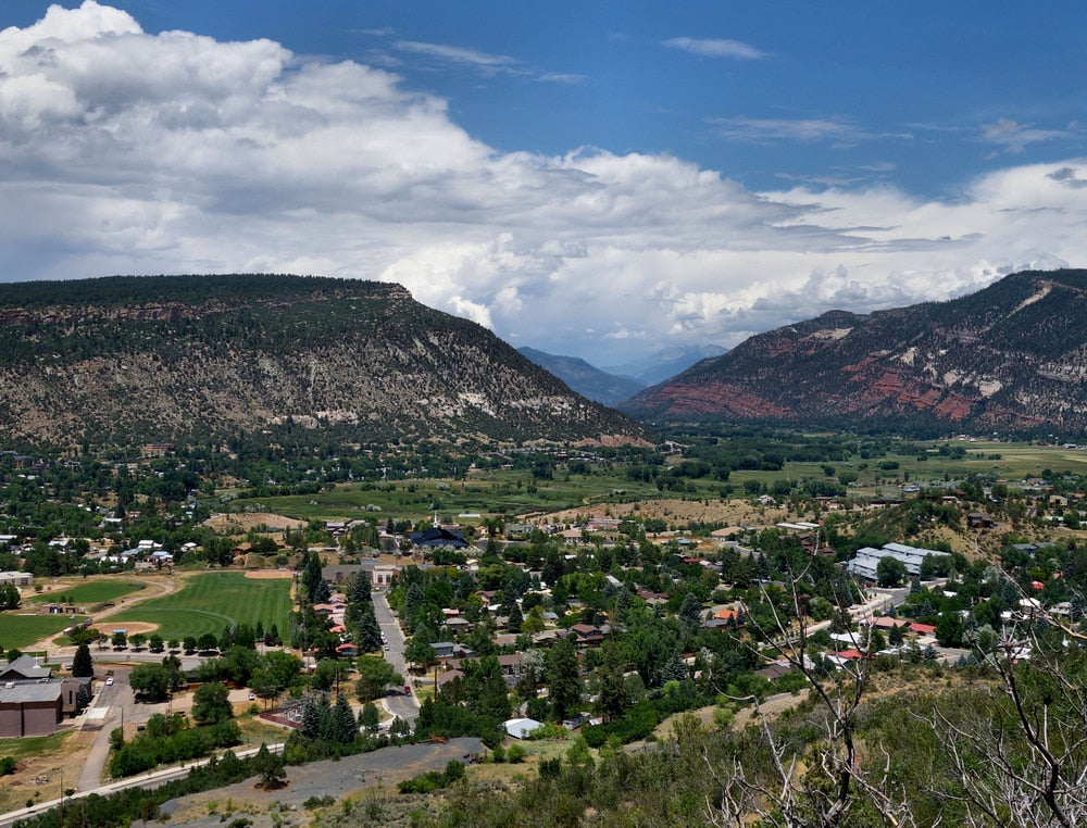 Fort Lewis College campus beside Mesa in southwest Colorado.