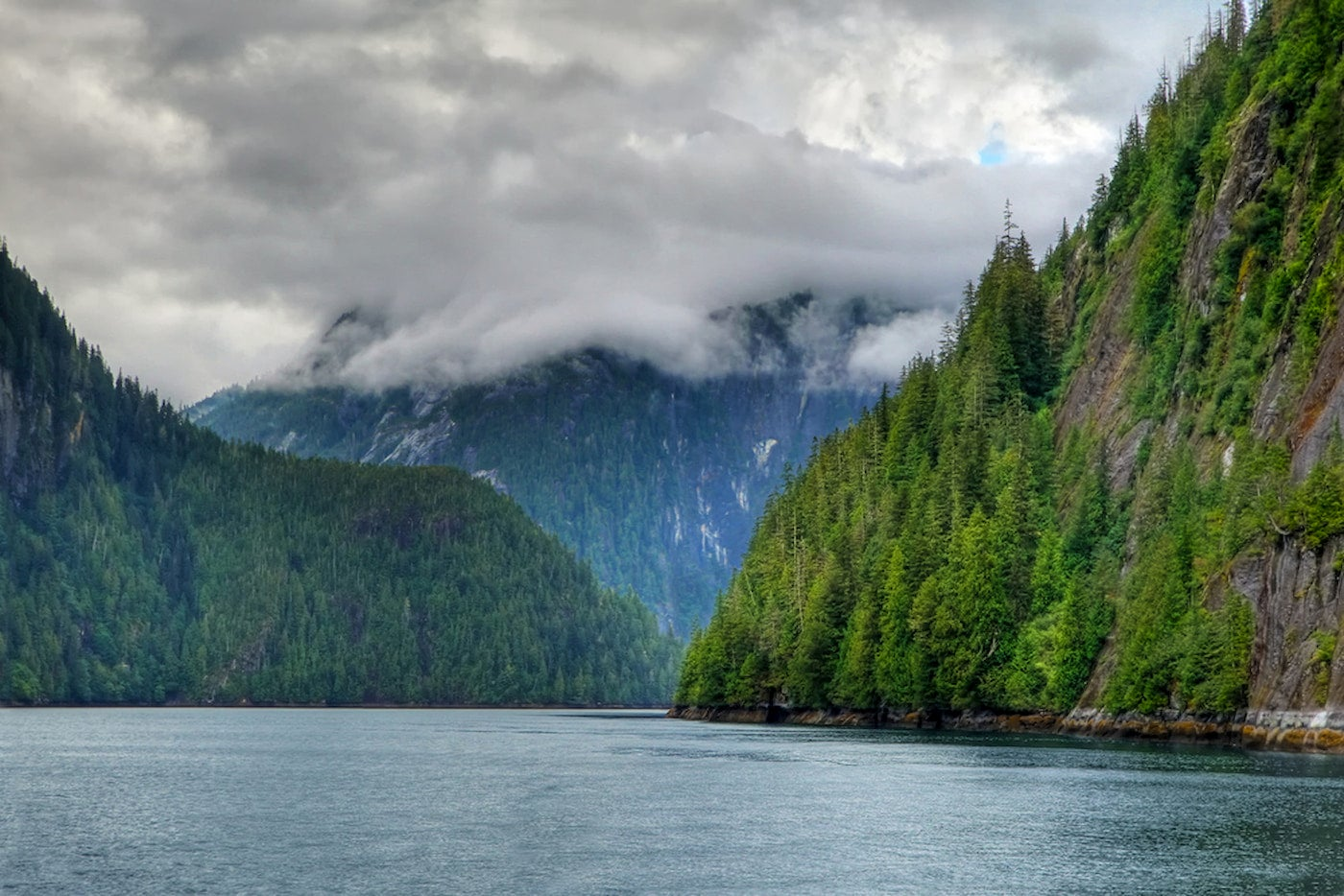 Misty Fjords in Tongass national forest on the coast of Ketchikan Alaska.