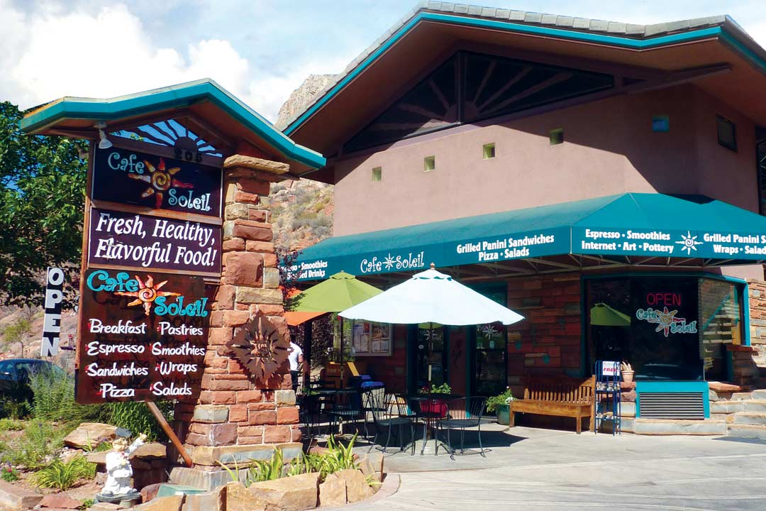 the cafe soliel restaurant near zion national park