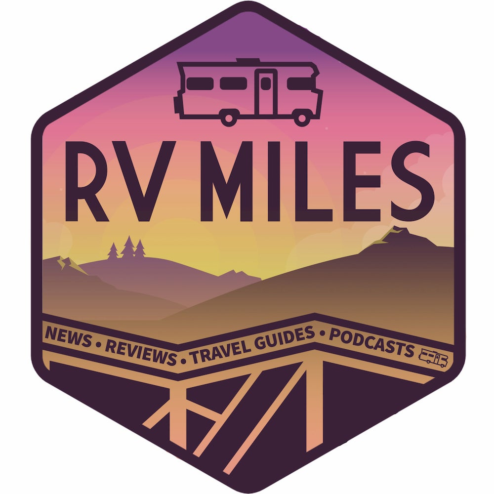 logo image for the rv miles podcast
