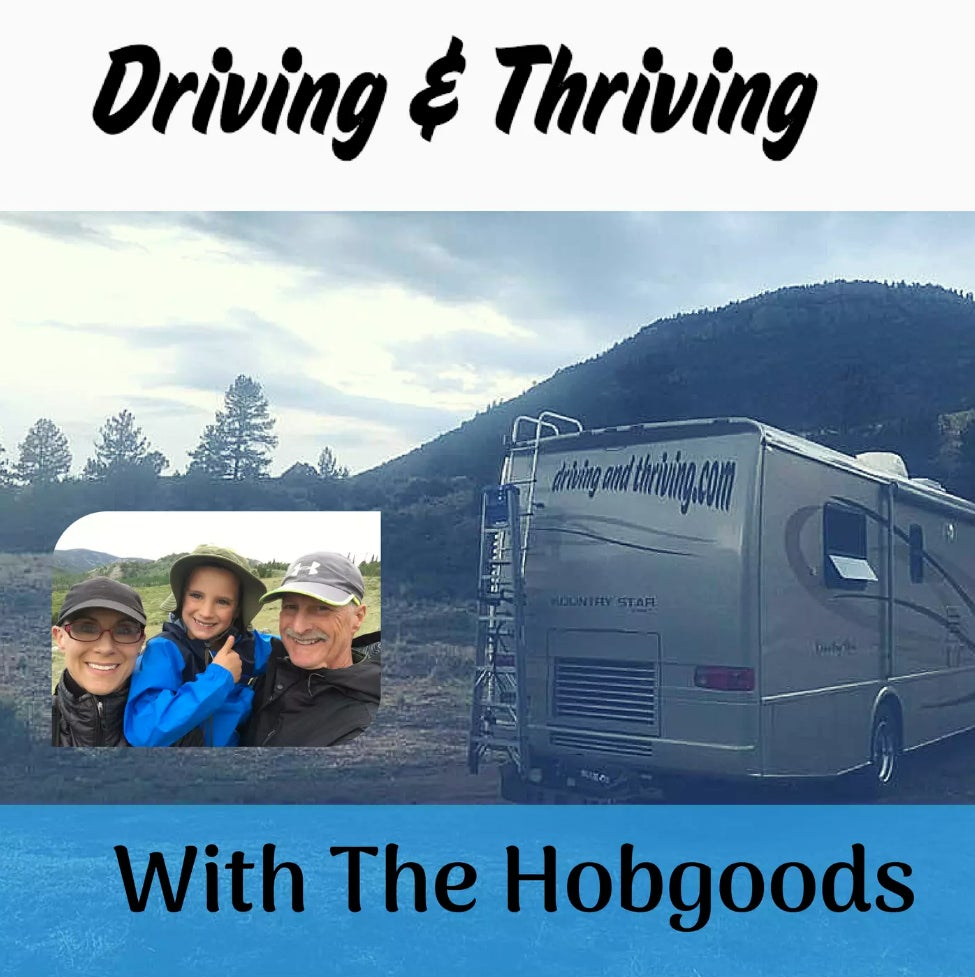 logo image for the podcast driving and thriving