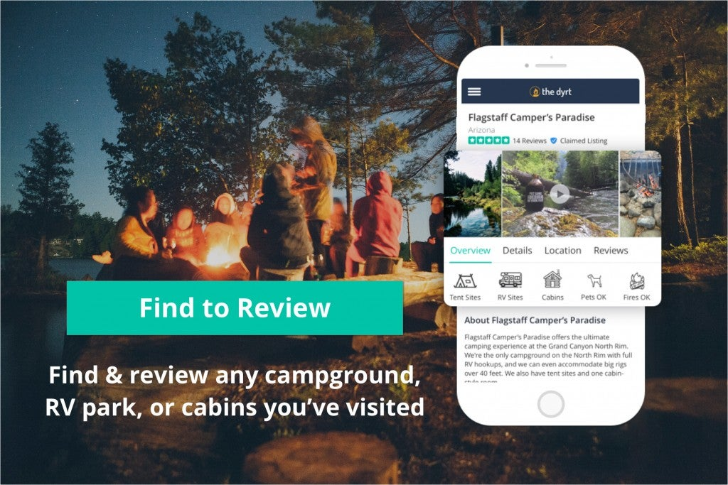 Find campgrounds to review