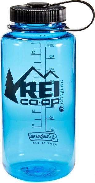 blue nalgene water bottle