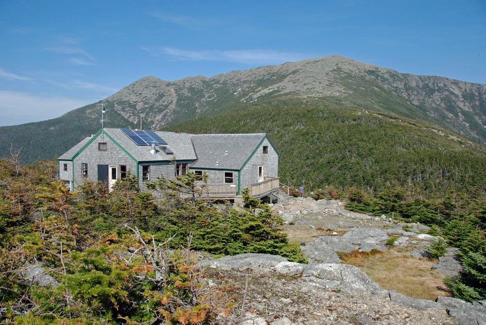 Greenleaf hut in the white mountains.