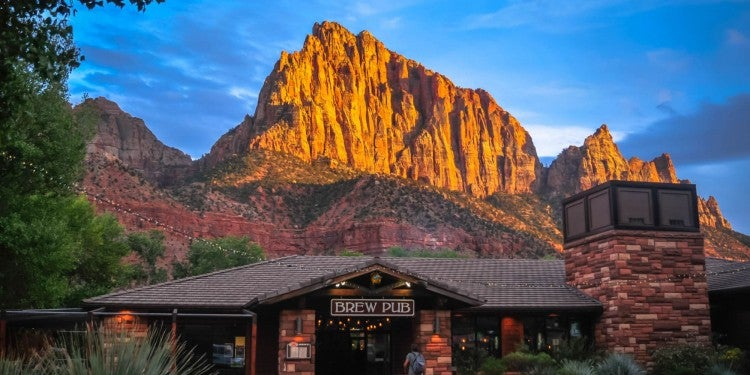 a restaurant in zion national park