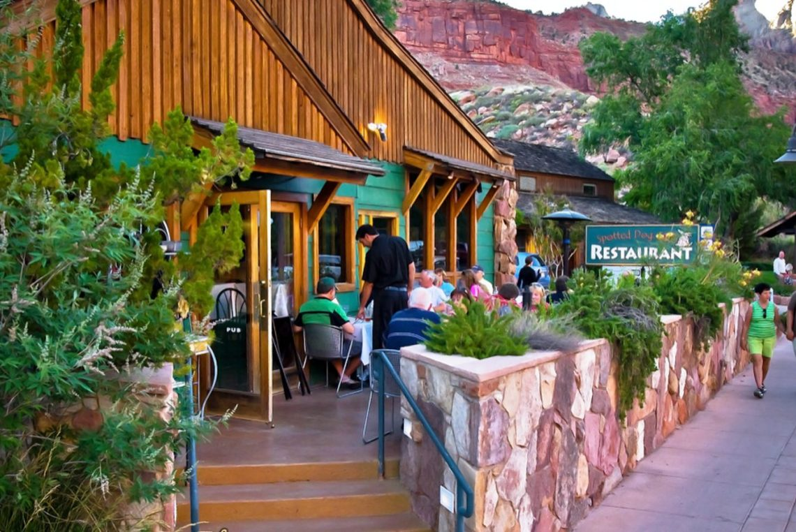 the spotted dog cafe near zion national park