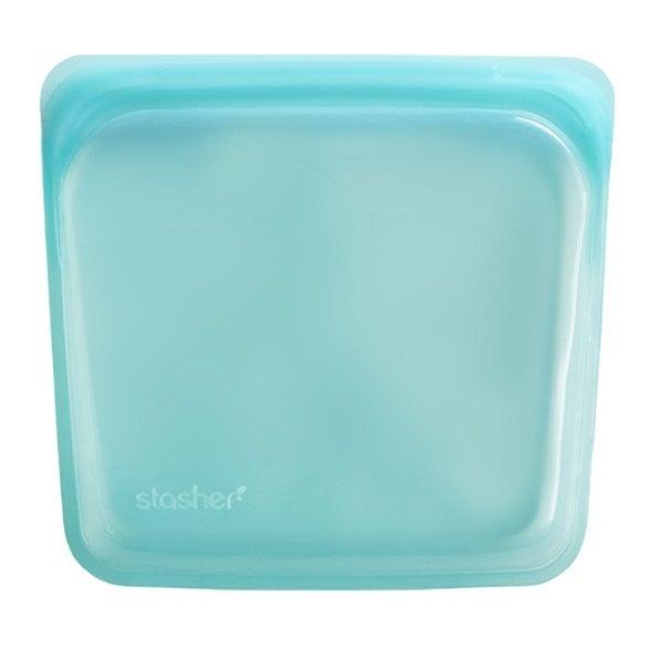 blue silicone square baggie