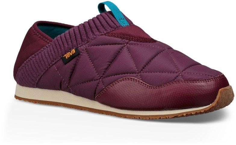 maroon camping slipper