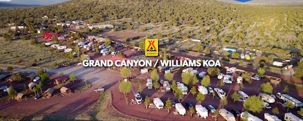 Aerial image of the Grand Canyon KOA.