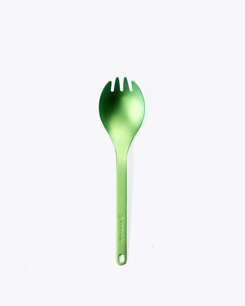 Green spork.