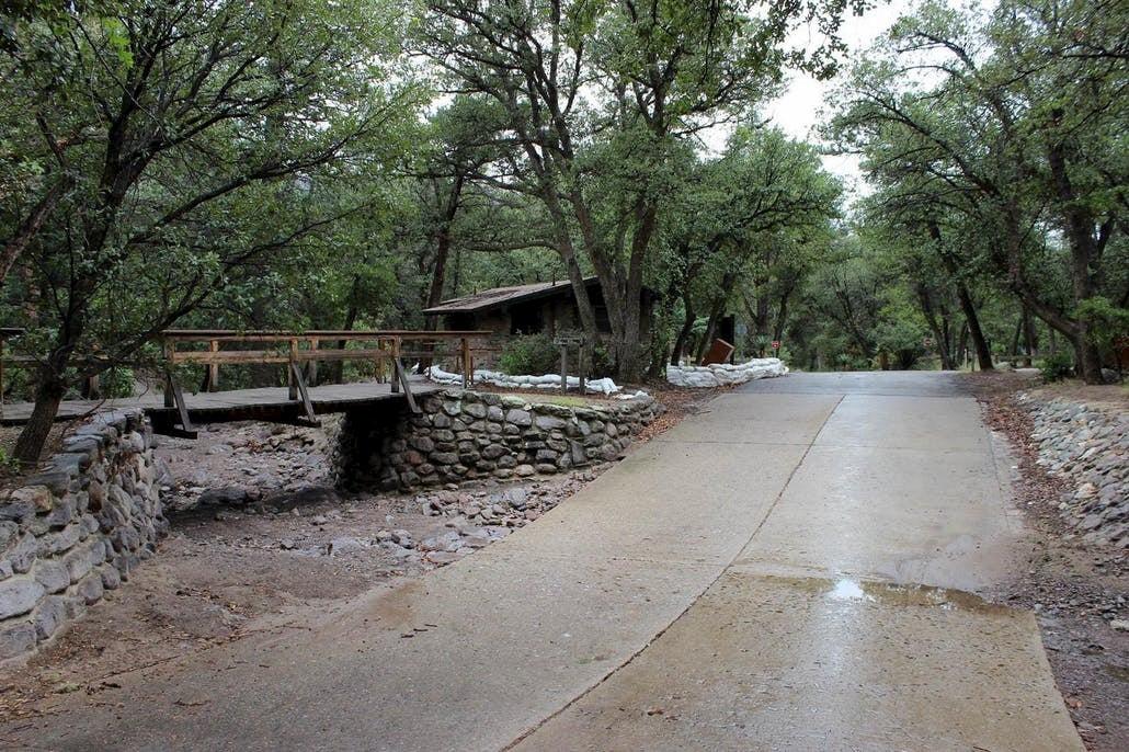 road and bridge at Bonita Canyon campground