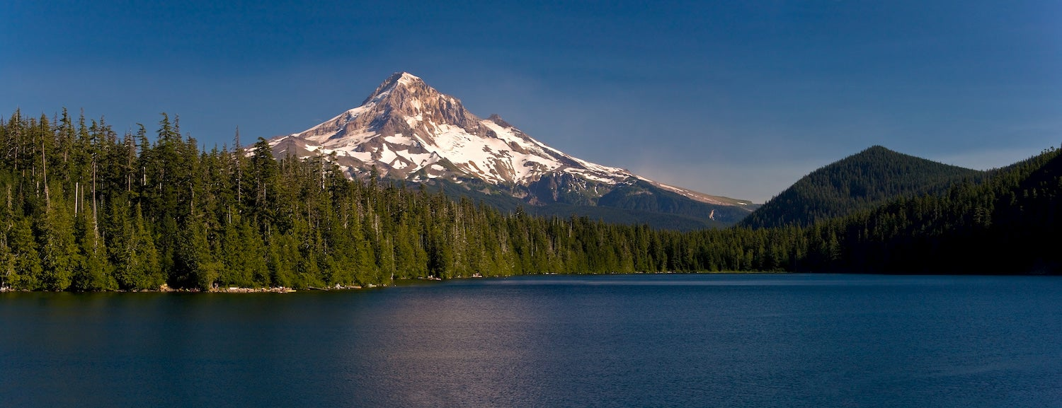 mount hood as seen from lost lake