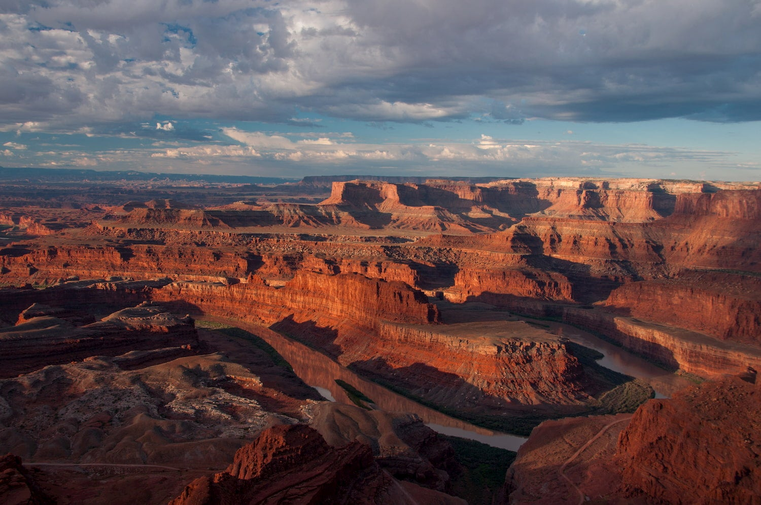 landscape of Colorado river at dead horse point state park