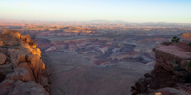 vast landscape of red rocks in utah