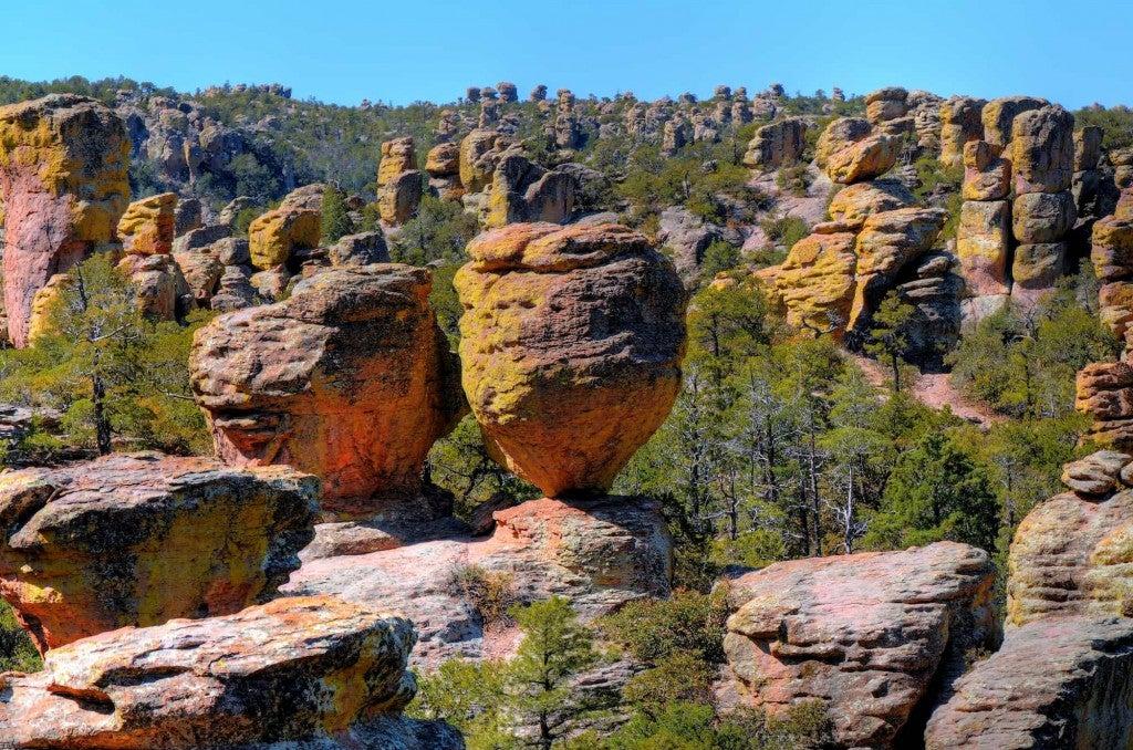 rhyolite rockscape in chiricahua national monument