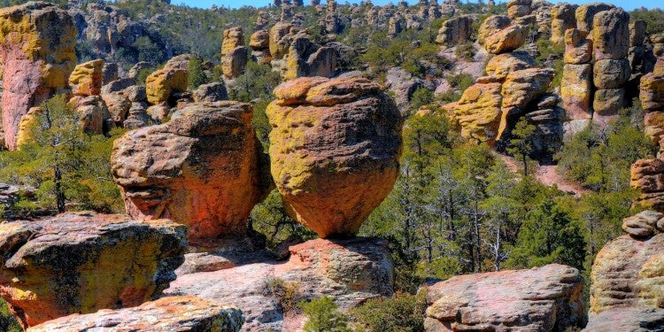 rhyolite rockscape in chiricahua national monument