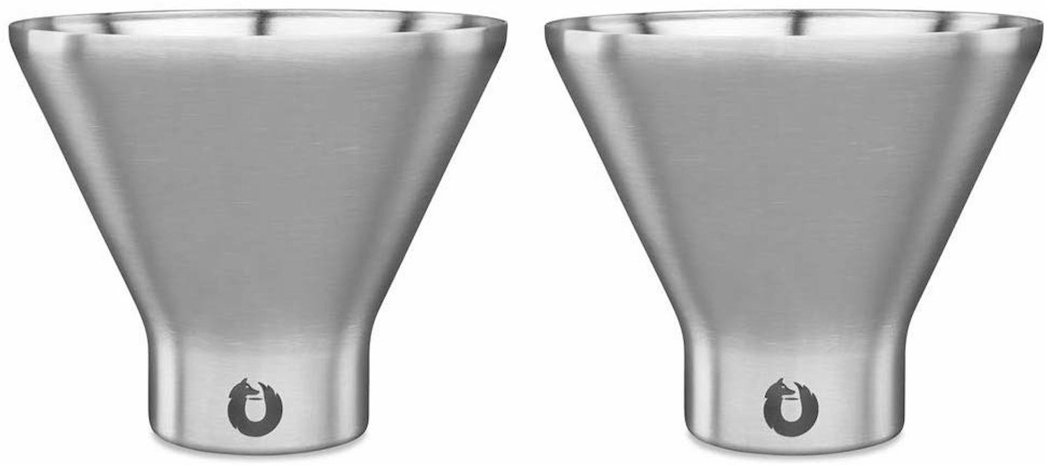 Snowfox Stainless steel cocktail glasses