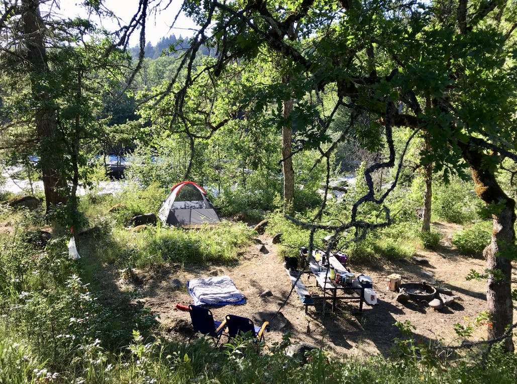 campsite at tucker county park