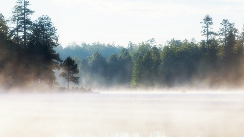 a fog over woods canyon lake in arizona