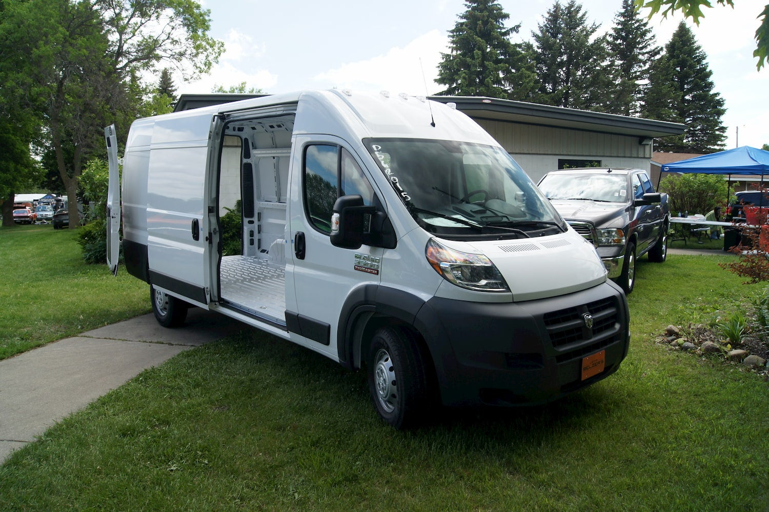 dodge promaster at campground