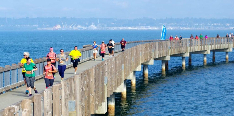 racers running on dock