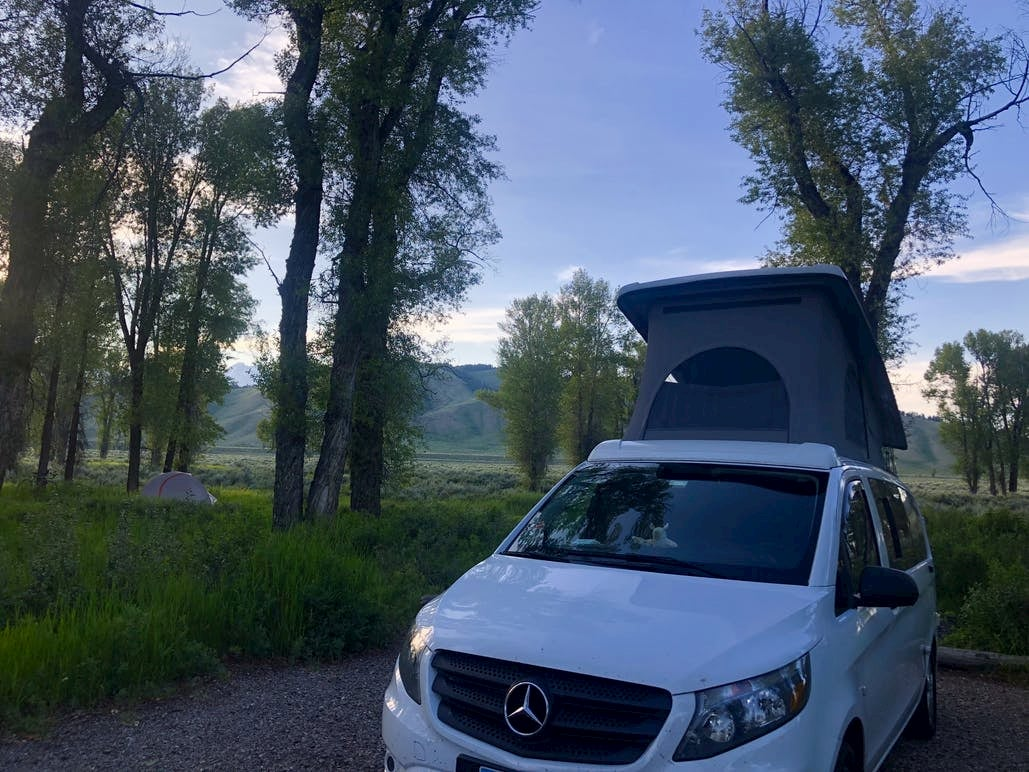 Pop-up camper at Grand Teton National Park