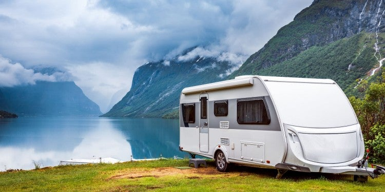camper by the water
