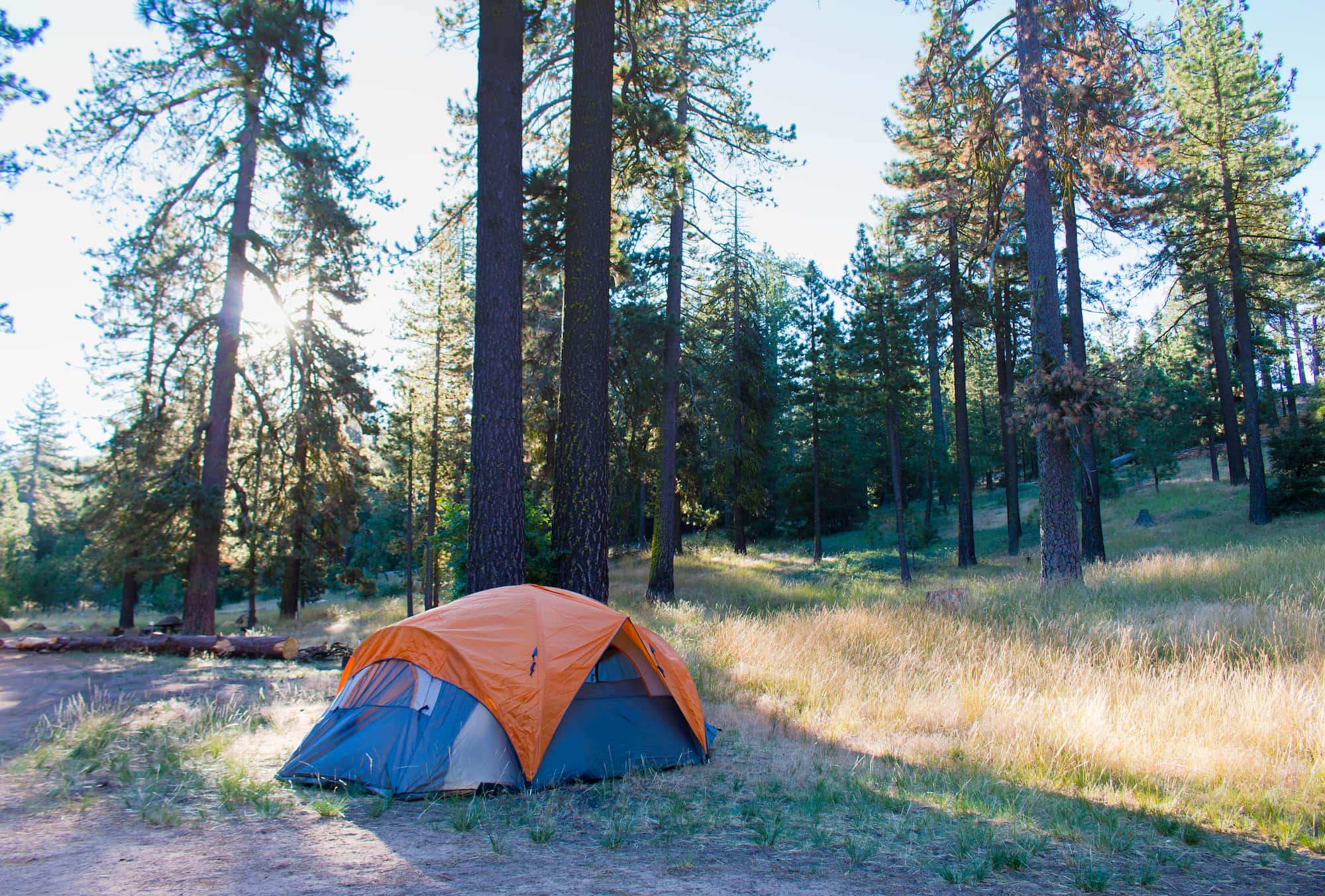 tent in the sespe wilderness