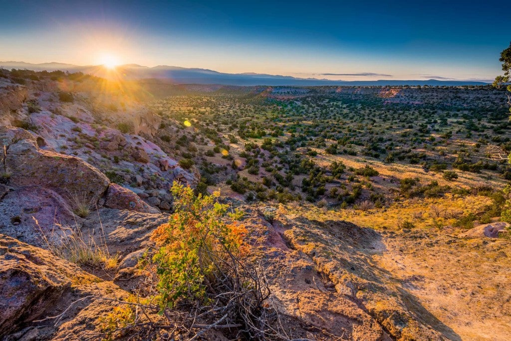 andscape photo of bandelier national monument
