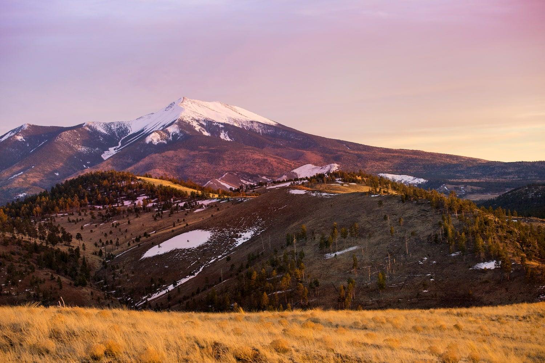 sunset at humphreys peak