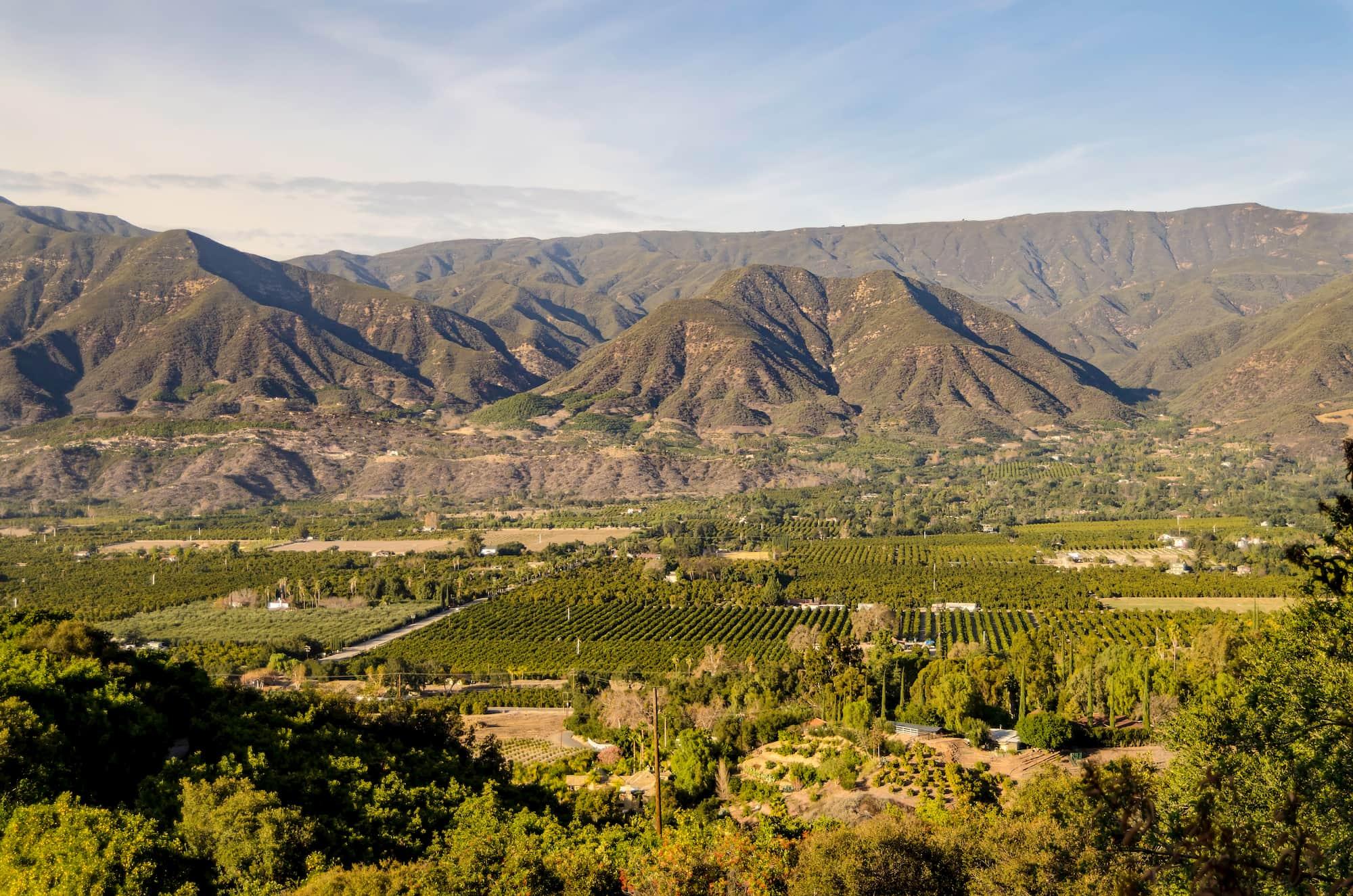 panoramic view of Ojai California