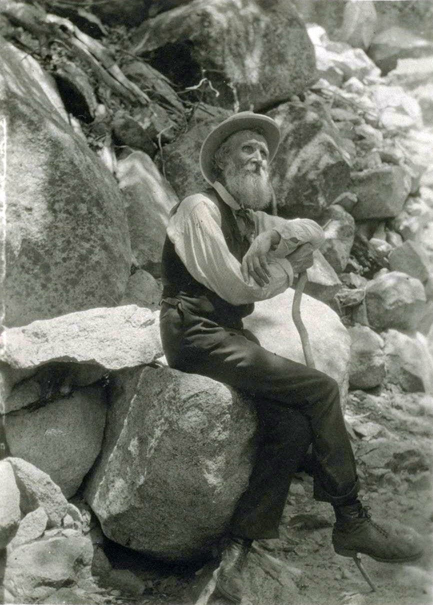 john muir with a cane