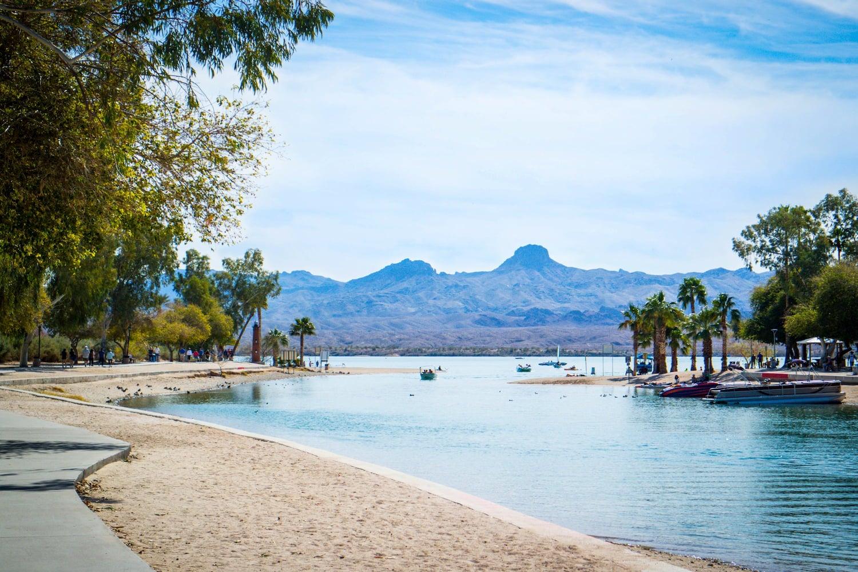 beachfront view of lake havasu